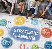 Strategy Planning Target Process Business Concept.  royalty free stock images