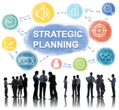 Strategy Planning Target Process Business Concept Royalty Free Stock Images