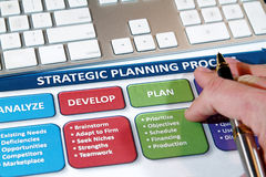 Strategy Plans Stock Image