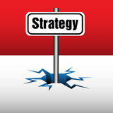 Strategy plate Royalty Free Stock Image