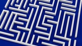 Strategy problem decisions 3D illustration complicated maze vector illustration