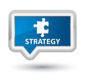 Strategy (puzzle icon) prime blue banner button Stock Image