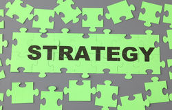 Strategy puzzle Stock Photos