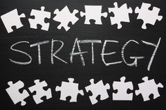 The Strategy Puzzle Royalty Free Stock Photography