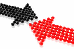 Strategy of red and black team Stock Images