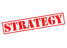 STRATEGY. Red Rubber Stamp over a white background Royalty Free Stock Photo