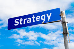 Strategy Road Sign Stock Photos