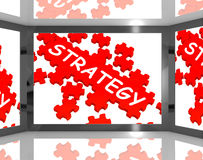 Strategy On Screen Showing Innovative Plans Stock Photos