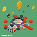 Strategy search, solution choice, business quest vector concept. Strategy search, solution choice, business quest flat isometric vector concept illustration Royalty Free Stock Photos