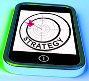 Strategy Smartphone Means Methods Tactics And Game Plan Royalty Free Stock Photography