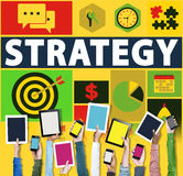 Strategy Solution Tactics Teamwork Growth Vision Concept Stock Images