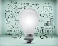 Strategy. Financial plan business power idea electric Stock Images
