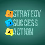 Strategy, success and action illustration design Stock Photos