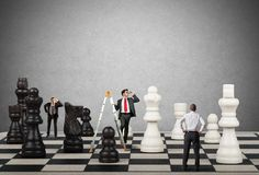 Strategy and tactics in business Stock Image
