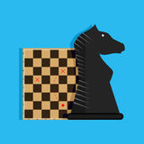Strategy and tactics. Plan game business, chess play success, vector illustration Stock Photos