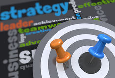 Strategy target Stock Photo