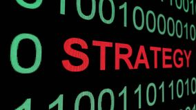 Strategy text over binary data.  stock illustration