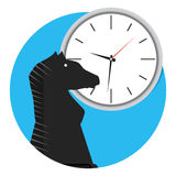 Strategy time icon. Business strategy vision, vector illustration Royalty Free Stock Photos