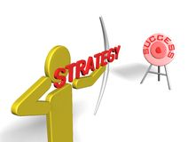 Strategy to Success. Strategy represent the arrow that prepare to achieve the success target Royalty Free Stock Photos