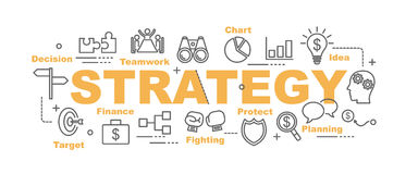 Strategy vector banner Stock Photo