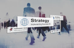 Strategy Vision Planning Process Tactic Concept.  Royalty Free Stock Images