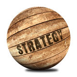 Strategy on wooden ball Stock Photos