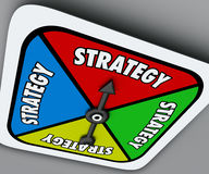 Strategy Word Board Game Spinner Your Turn Win Competition Stock Photography