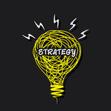 Strategy word bulb design concept Stock Image