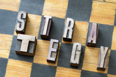 Strategy word chess Stock Photography