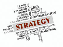 Strategy word cloud, Business concept Stock Photography