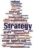 Strategy, word cloud concept 7. Strategy, word cloud concept on white background Stock Image