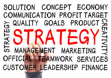 Strategy Word Cloud Stock Photography