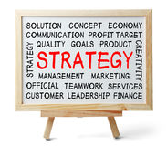 Strategy Word Cloud Royalty Free Stock Photos