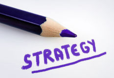 Strategy word Stock Photos