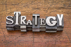 Strategy word in metal type Stock Image