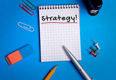 Strategy word Royalty Free Stock Photos