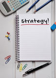 Strategy word Royalty Free Stock Photography