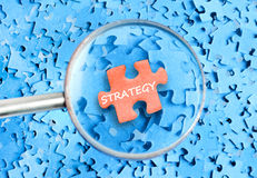 Strategy word Royalty Free Stock Image