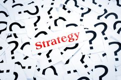 Strategy word Stock Images