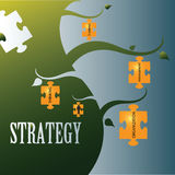 Strategy Words Royalty Free Stock Photography