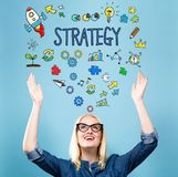 Strategy with young woman stock photos