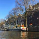 Straten in Amsterdam stock foto's