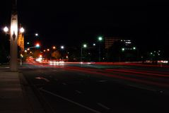 Straten bij Nacht royalty-vrije stock fotografie