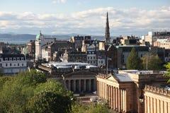 Straten in Edinburgh, het UK royalty-vrije stock foto