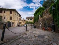 Straten en stegen van de oude stad van Florence Italië royalty-vrije stock foto