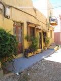 Straten oud in de oude stad van Rhodos Stock Afbeelding