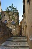 Straten in oude stad Caceras royalty-vrije stock afbeeldingen
