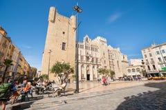 Straten, scènes en architectuur Narbonne, Frankrijk stock foto's