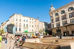 Straten, scènes en architectuur Narbonne, Frankrijk royalty-vrije stock foto's