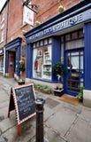 Straten in uiterst kleine Engelse stad Stock Foto's